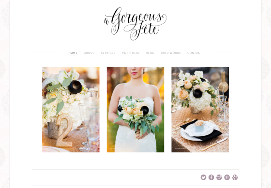 A Gorgeous Fête Website